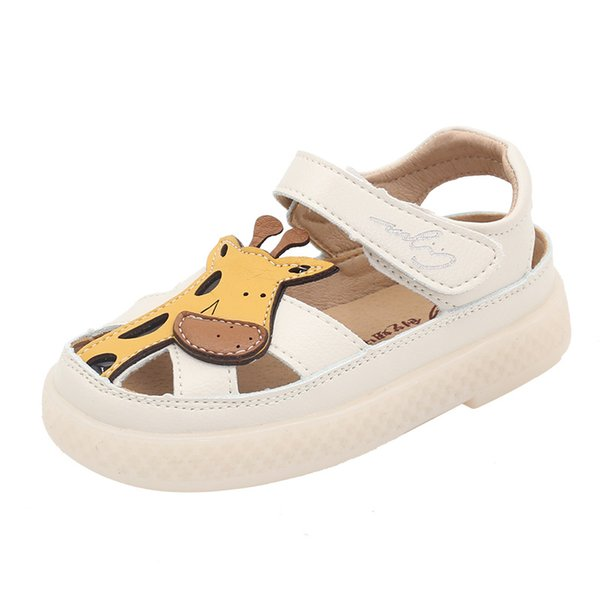 Summer cute sandals kids shoes girls boy cartoon toddler Little shoes sandals kids outdoor quality hollow Leather beach