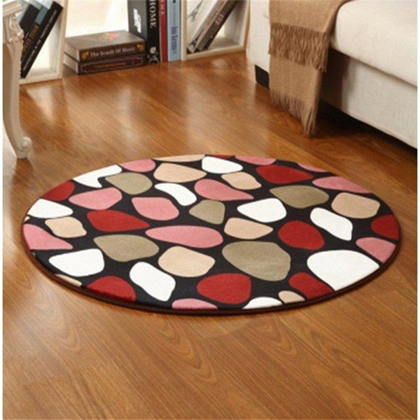 round stone flower carpet bedroom coffee table living room blanket coral fleece yoga mat computer chair rug children's carpet