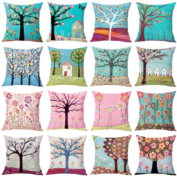 Modern fine Explosion Pillowcase 45 * 45 cm Pillow Cover HD Digital Printing Pillow Cover Home Sofa Decoration Cover Home Textiles T3I5128