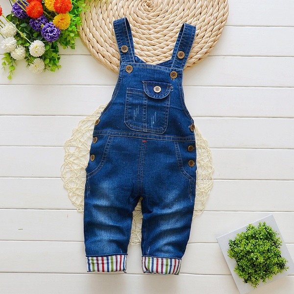 good quality new spring autumn baby boys girls jeans newborn denim overalls baby overalls high waist pants casual fashion jeans
