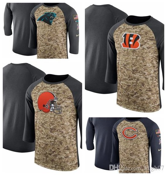 sneakers for cheap 277da 0c421 2019 Cleveland Browns Cincinnati Bengals Chicago Bears Salute To Service  Sideline Legend Performance Three Quarter Sleeve T Shirt From Hoodiesno1,  ...