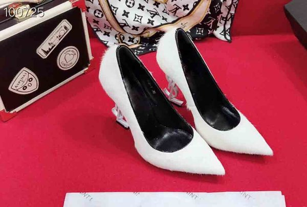 2019 Hot Selling Women's Luxury High-heeled Shoes, Designer Women's High-heeled Boat Shoes,Sheepskin,Women's pointed high heels,size35-41