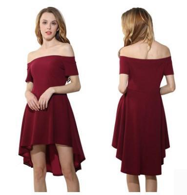 Women dress Short sleeve Swallow Tail Skirt Off Shoulder