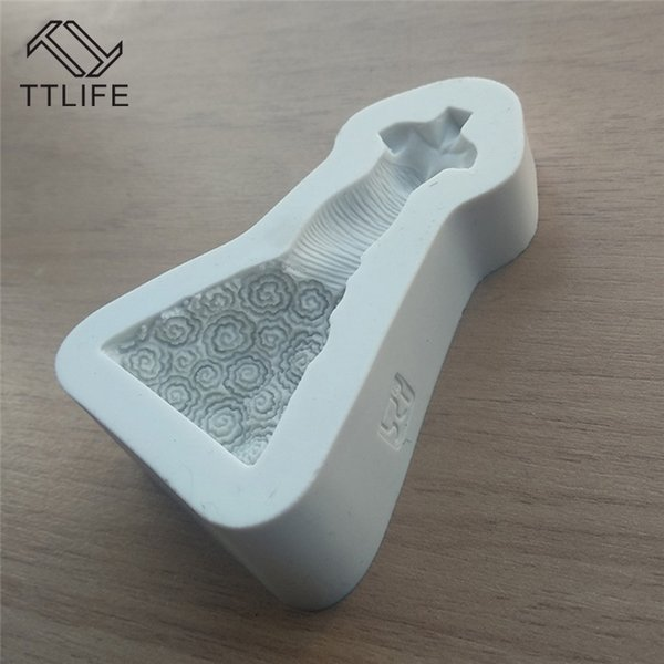 Cheap Other Dessert Tools TTLIFE 2018 Dress Mannequin Silicone Mold Kitchen Gadgets Home Fondant Tool Dessert Mold Kitchen Accessories