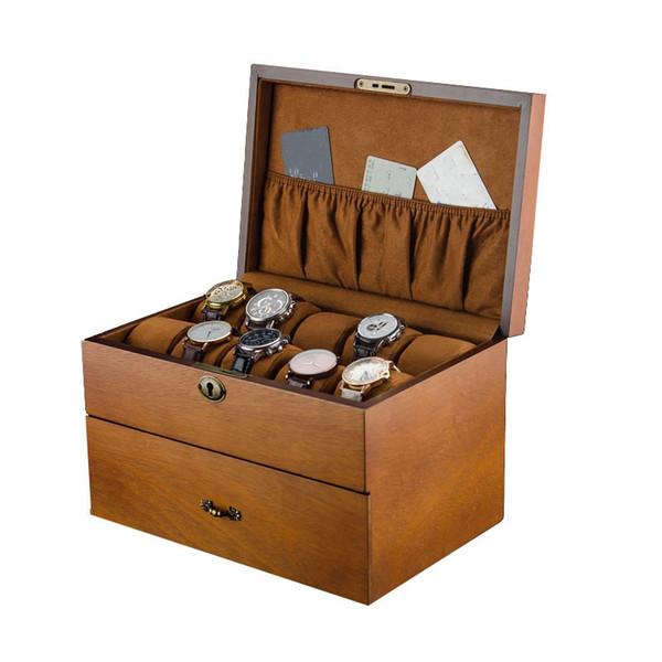 Legno di Prestigio Box Holder Watch Box Watch per gli orologi dei monili superiori Organizzatore Griglie Organizer Nuovo