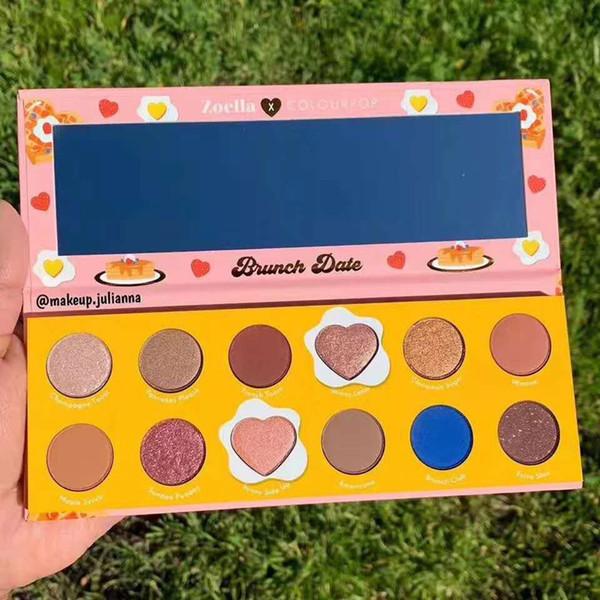 2019 Newest Colourpop x Zoella Cooperation Makeup Eyeshadow BRUNCH DATE 12 Colors Pressed Powder Palette Eye Shadow