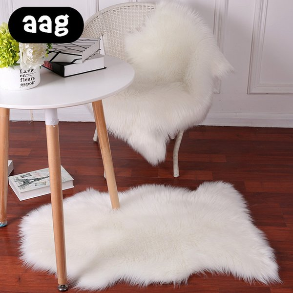 AAG Soft Artificial Sheepskin Rug Chair Cover Bedroom Mat Artificial Wool Warm Hairy Carpet Seat Wool Warm Textil Fur Area Rugs