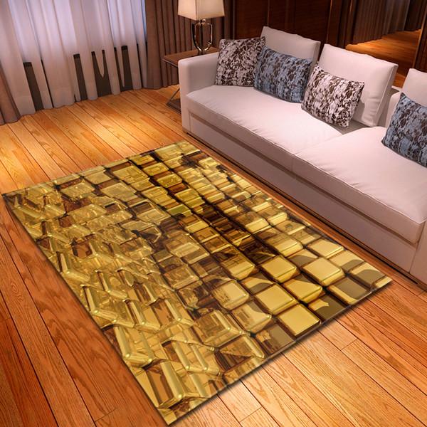 Creative 3D Tapis D'impression pour Salon Chambre Tapis De Sol Solide Doux Rectangle Antidérapant Tapis Tapete Couverture Décor À La Maison