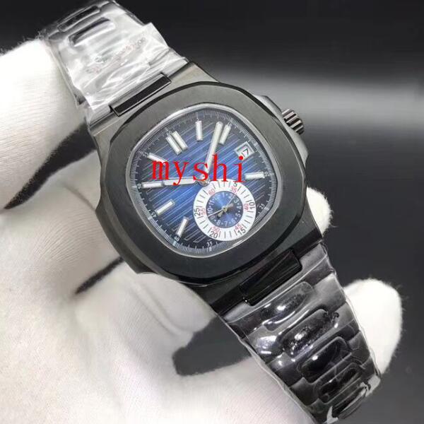 2019 novo luxo popular nautilus sports watch marca dos homens automático monement watch dial aço inoxidável relógio mecânico dos homens do dia das bruxas gif