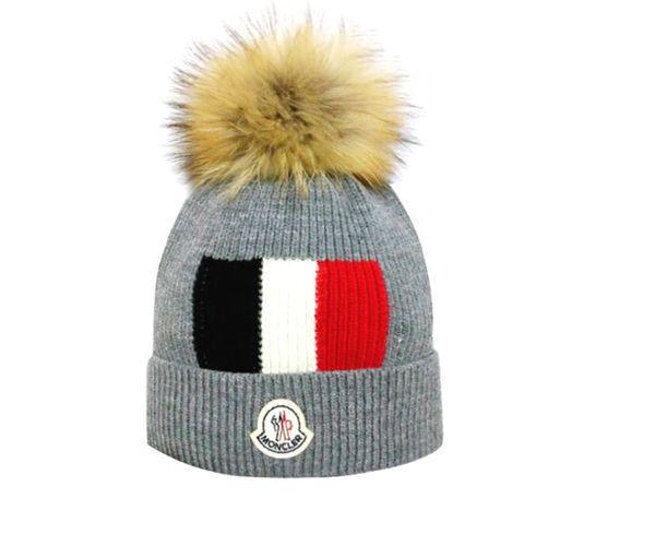 Winter Warm Hats Women Solid Color Knit Beanie Hat Fur Pom Pom Hairball Warm For Kid Beanie Cap