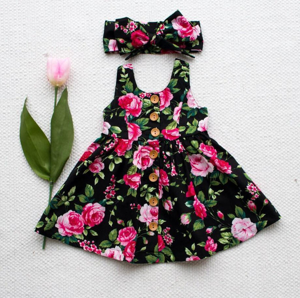 childrens dress baby kids summer floral princess dresses Bohemian 2019 fashion baby beach dress for girls clothes