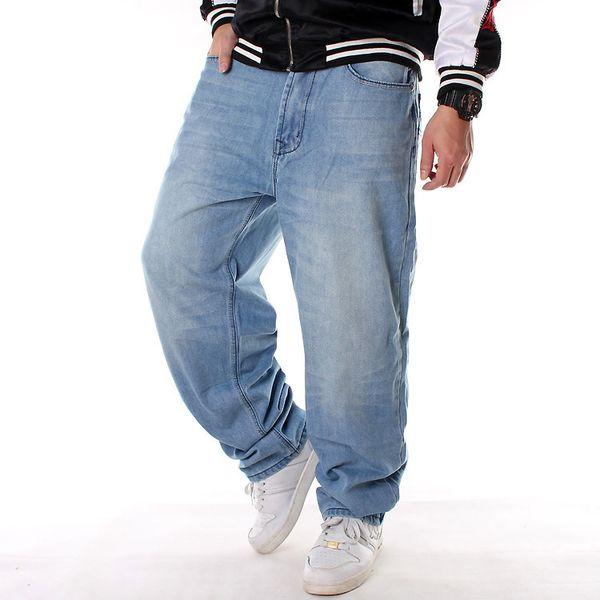 Otoño Invierno Jeans Moda Streetwear Hombres Hip Hop Casual Hombres sueltos Diseñador Denim Jeans Talla 30-46