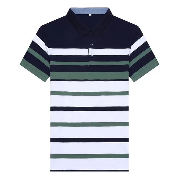 DEWBEST Erkek Gömlek Yeni Moda Erkekler Tee Gömlek Yaz Çizgili Erkek Marka Giyim Kısa Kollu s Casual Tops