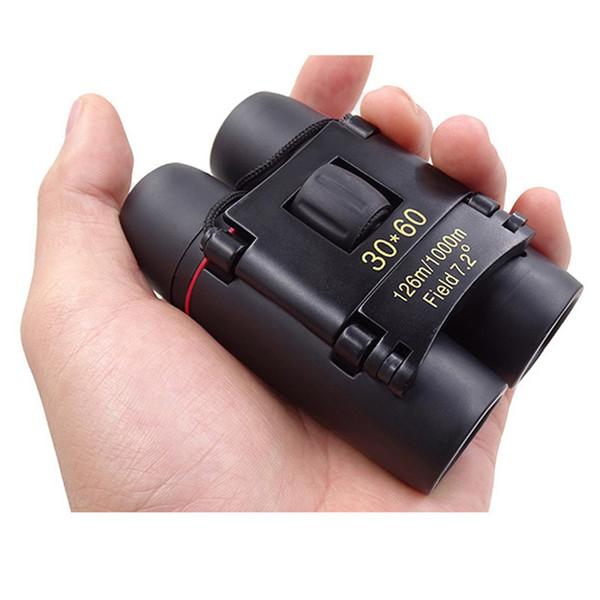 Profesional plegable 30x60 binoculares Zoom Night Day Vision Binocular binocular de alta potencia de bolsillo para la caza viajes T190627