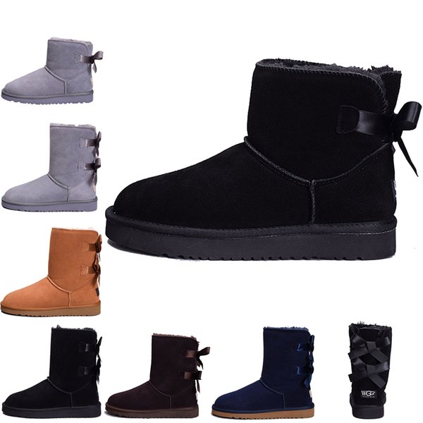 Hot Fashion Australia classic winter boots for women chestnut black gray pink designer snow ankle knee boot for womens shoes size 36-41