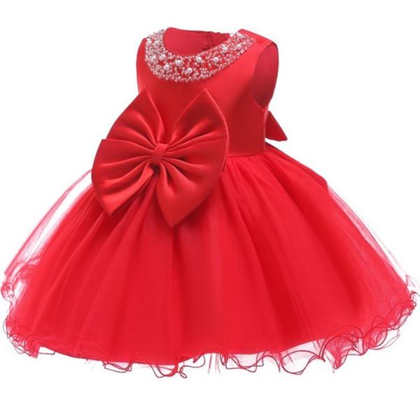 49ade7f06 Vestido de cumpleaños para bebé Hecho a mano Vestido de flores para niña  Vestido de bautizo