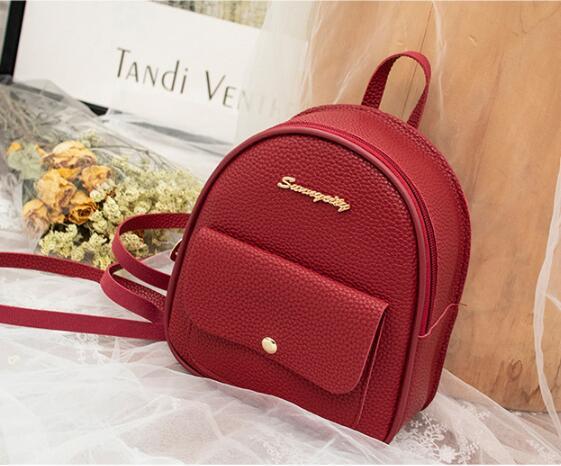 Мини рюкзак женщины искусственная кожа сумка для девочек-подростков Дети многофункциональный небольшой рюкзак женский женский школьный рюкзак