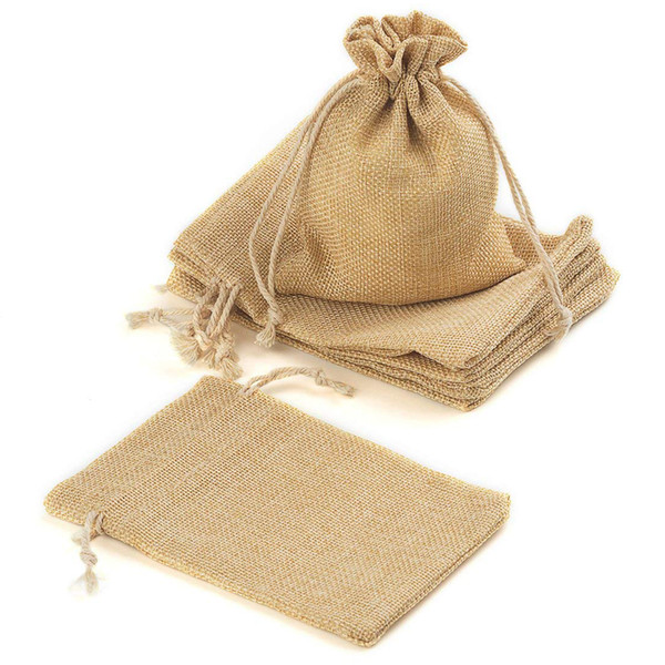 best best online famous brand Wholesale Jute Drawstrings Burlap Bags With Drawstring Gift Bags For  Wedding Party Arts Crafts Projects Presents Sn Cheap Designer Handbags  Black ...
