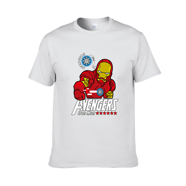 Nuevos Hombres Camisetas Moda Verano O-cuello Slim Fit Camiseta de manga corta Hombres Mercerized Cotton Brand-Clothing Avengers CLUB Hombres Camiseta 570