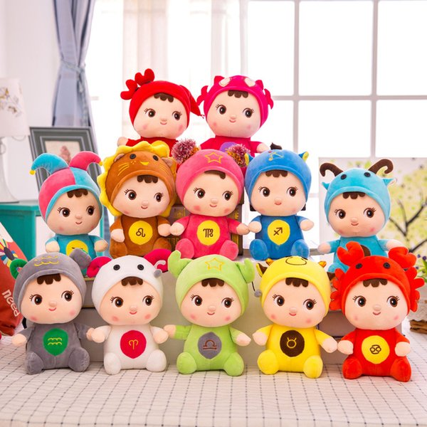 best selling 8 inch High Quality Doll 12 Star Sign Dolls Birthday Christmas Gift Stuffed Animals Toy Plush toys Gifts For Kids toys