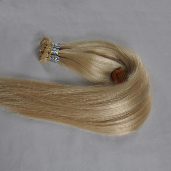 300 Gram Düz İpucu Ön Uzantıları Gümrüklü 100% Remy İnsan Keratin Saç Uzantıları