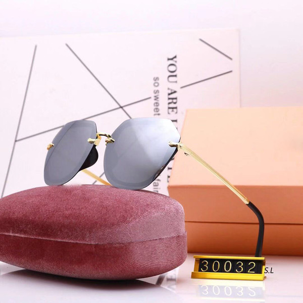 30032 pink/brown pink shaded flash lens Sunglasses Cateye occhiali da sole Women Designer Sun glasses New with box