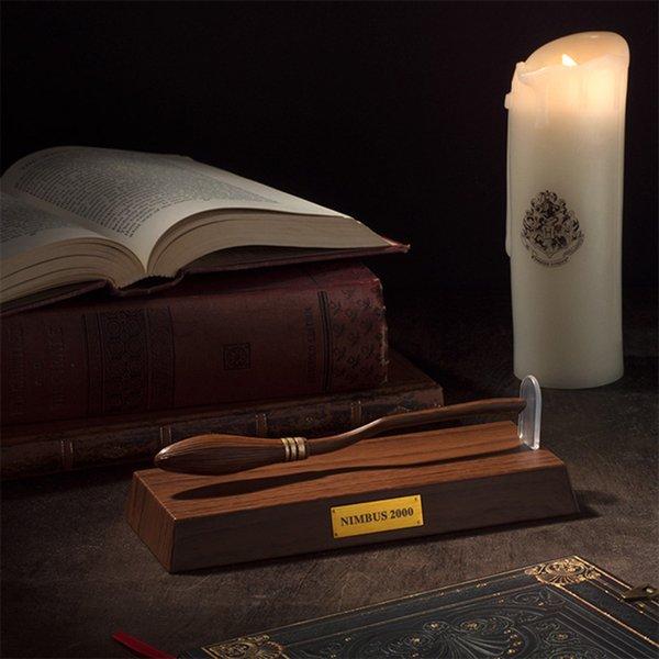 Harry Prop Nimbus 2000 Levitating Broomstick Pen PVC Potter Pen Toys Fans Gift L361
