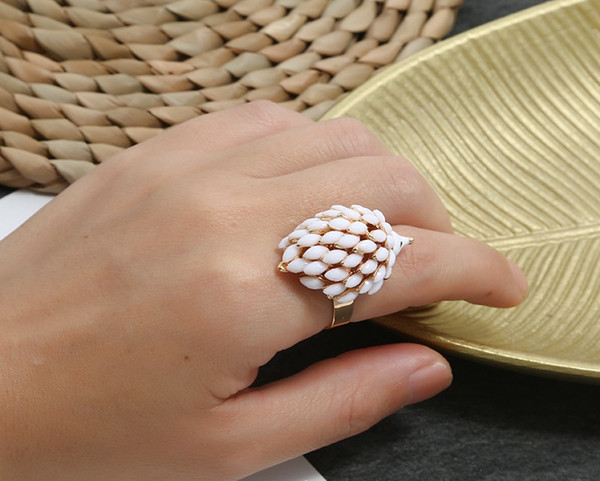 Lovely Hedgehog Animal Ring Stereo Finger Ring Fashion Jewelry Accessory Gifts For Women Adjustable Size White/Black