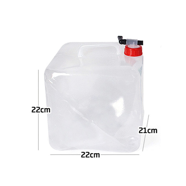 Outdoor folding drinking bucket 10L camping portable large-capacity car drinking kettle water tool four-corner water bag
