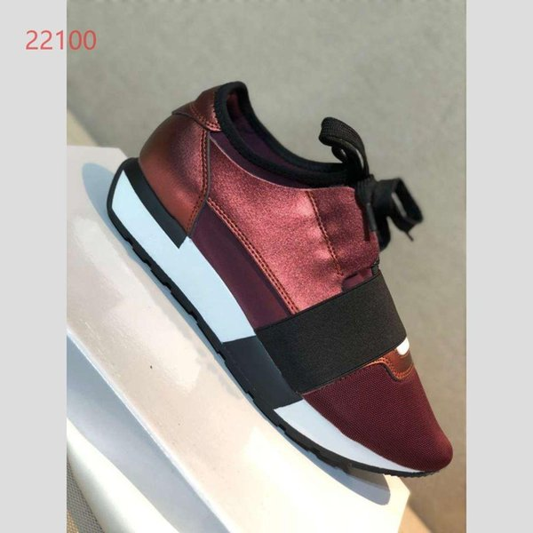 The new fashion trend in 2019 is light sports and leisure couple shoes(balck and dark red) B26