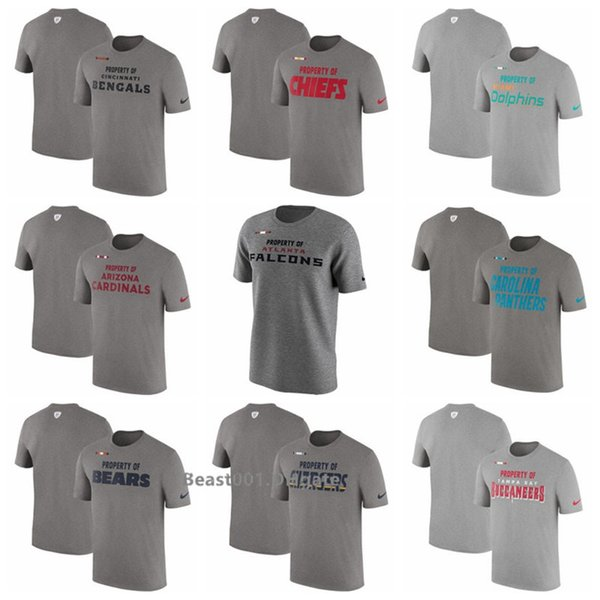Bengals Chiefs Dolphins Cardinals Falcons Panthers Bears Chargers Buccaneers Redskins Side line Property Of Facility T-Shirt - Heather Gray