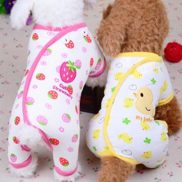 Собаки Пижамы Pet Собака Кошка Printed Сверхмягкой Теплая одежда Щенок Комбинезон для щенка пальто для чихуахуа Поморского костюма