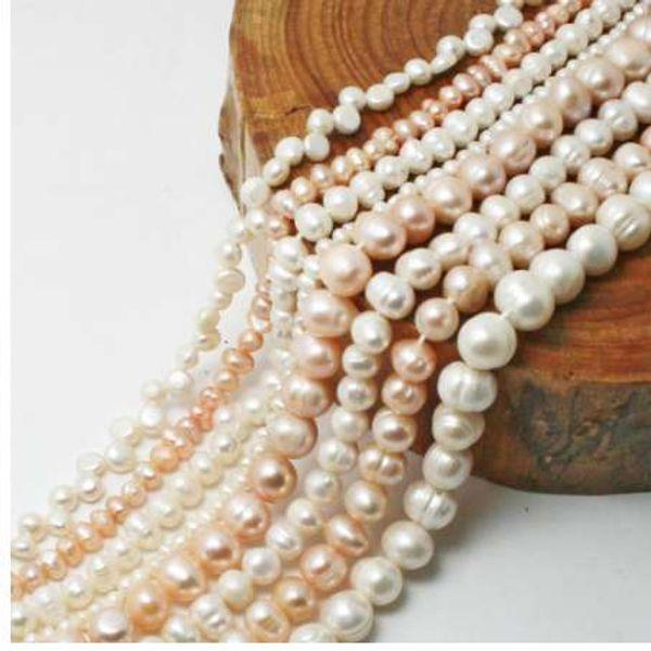 Hohe Qualität 35,5 CM Natürliche Frischwasserperlen Perlen Punch Lose Perlen Für DIY Frauen Elegante Halskette Armband Schmuck Machen