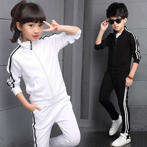 de costume enfants filles Vêtements Set 2018 enfants printemps automne Top + Pantalons 2 costumes Piecese costumes de sport adolescent