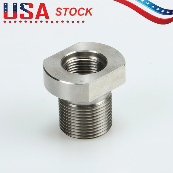 best selling 5 8-24 Male to 1 2-28 Female Thread Adapter Stainless Steel Suppressor Adapter, Shipping From USA