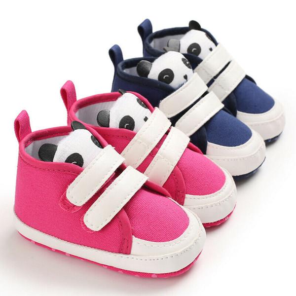Cute Newborn Baby Boy Girl Crib Shoes Canvas Soft Sole Pram Anti-slip Sneaker
