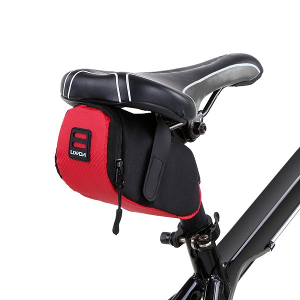 Lixada Mini Mountain Bike Saddle Bag Cycling Bags Pouch Road Bicycle Seat Tail Pack Outdoor Cycling Seatpost Bag