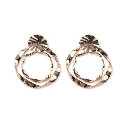 Best lady Metal Stud Earrings for Women Vintage Round Layer Silver Color Statement Earrings Jewelry Shiny Charm Bijoux Hot Sale