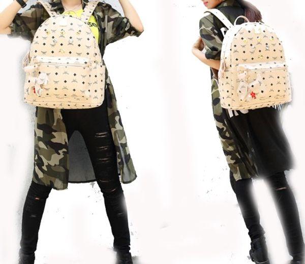Genuine Leather High Quality Mini size Luxury Brand men women's Backpack famous Backpack Designer lady M backpacks Bags Women Men back pack