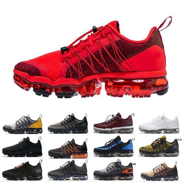 Compre Nike Air VaporMax Run Utility 2019 Zapatillas De Running Para Hombre 12 Nuevos Colores Blanco Negro Reflect Silver Diseñadores Calzado