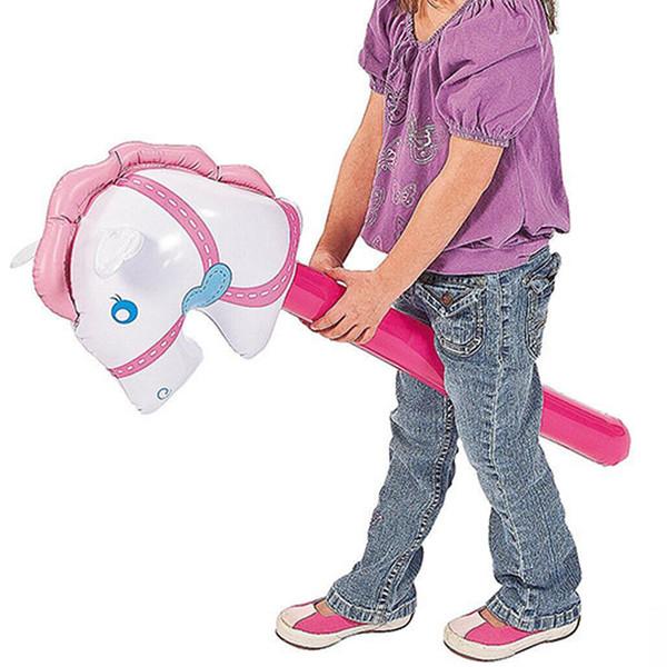 Ride On Tierspielwaren für Kinder Stock-Pferde-Fahrt auf Tier-Spielzeug für Kinder im Freien Reiten Spiel Spielzeug-Pferdekopf-Schlauchboot