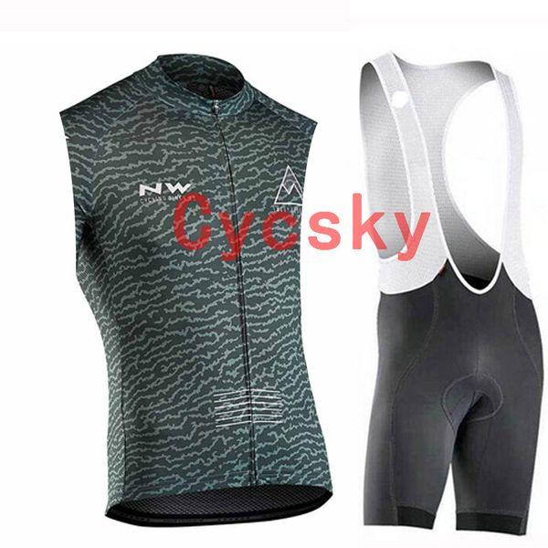 nw 2019 summer new Cycling jersey sleeveless Jersey Bib shorts Short Sleeves jersey bib shorts sets