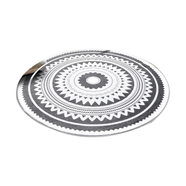Hot Sale Nordic Gray Series Round Carpets For Living Room Computer Chair Area Rug Children Play Tent Floor Mat Cloakroom Rugs