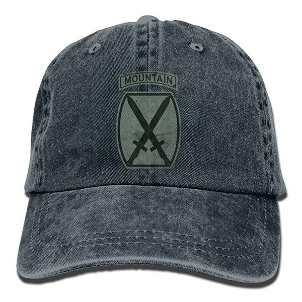 HUAN 2019 New Cheap Baseball Caps Mens Cotton Washed Twill Baseball Cap US Army Retro 10th Mountain Division Hat