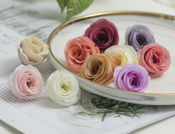 Simulated Camellia Wedding Arrangement Rose Bride Hand Rose Breast Flower Making Flower Rose W783