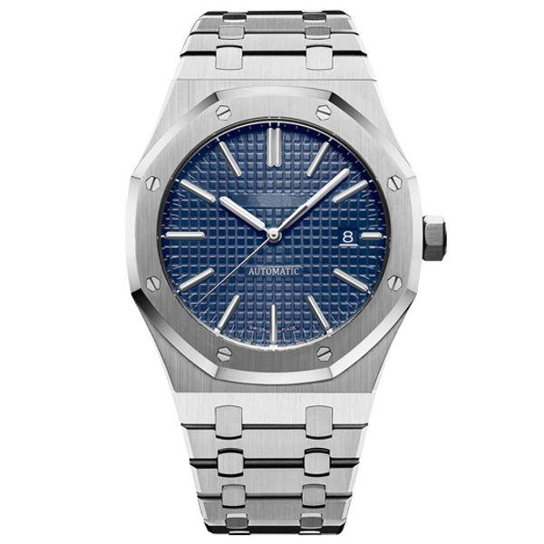 Popular Luxury Mens Watch Top Mens Luxury Watch Automatic Mechanical Calendar 45mm Watch Mens Business Waterproof 30 Meter