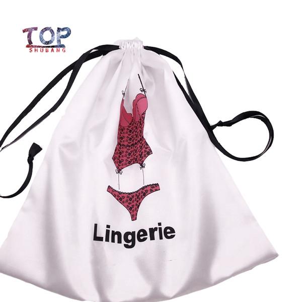 Customized Logo Satin Underwear Bag Wig Silk Wrap Bag 30X30Cm Women Extension Packaging Satin Silk Hair