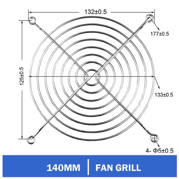 2 parti / lotto Gdstime 140 millimetri copertura del metallo di PC Filtro ventola del computer Guardia Grill