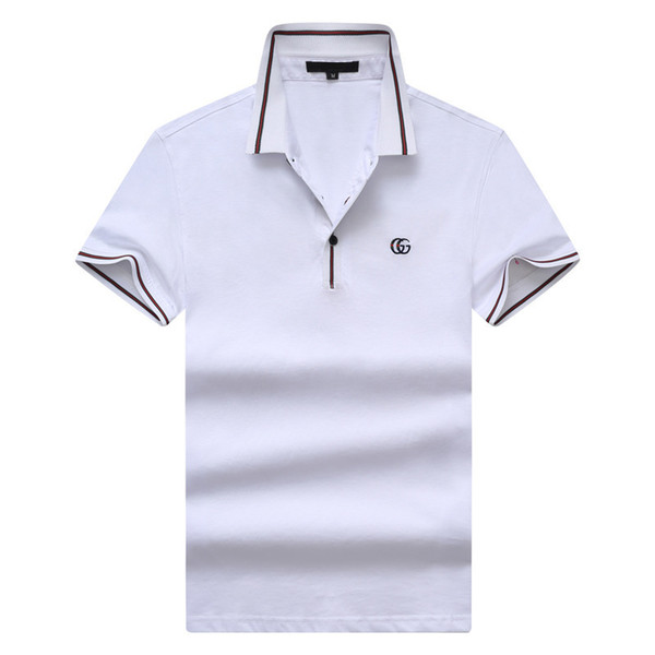 2019 Summer New Pattern Man Short Sleeve T T-shirt Pure Cotton Youth Lapel Polo98