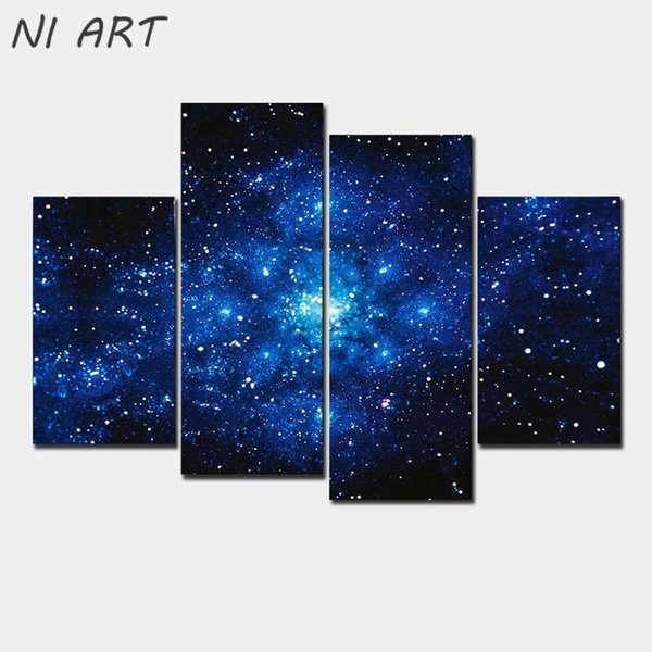 Home Decoration Milky Way Galaxy Abstract Canvas Oil Paintings 5 Piece Wall Painting On Art Picture Pictures For Living Room No Frame